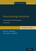 Overcoming InsomniaA Cognitive-Behavioral Therapy Approach, Therapist Guide